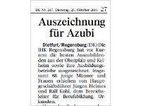 Auszeichnung für Azubi