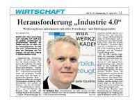"""Herausforderung  """"Industrie 4.0"""""""