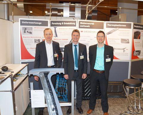 Das Siebenwurst-Team beim VDI-Kongress: Marc Binder, Roland Siebenwurst und Ralf Drössler (v.l.)