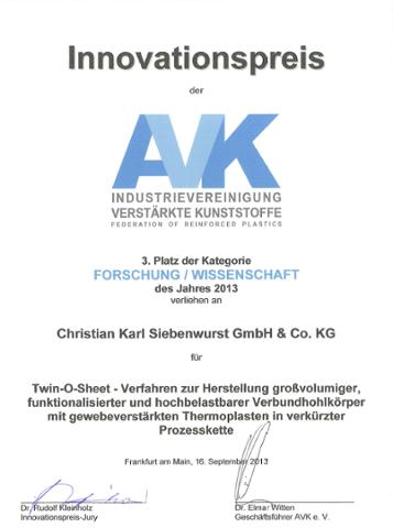 Innovationspreis der AVK 2013