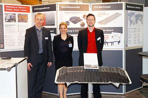 Vertriebsleiter Marc Binder mit seinem Team Katrin Betz und Ralf Drössler (v. l.) in Mannheim