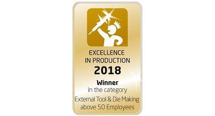 """Werkzeugbauer des Jahres 2018 in der Kategorie """"Externer Werkzeugbau über 50 Mitarbeiter"""""""