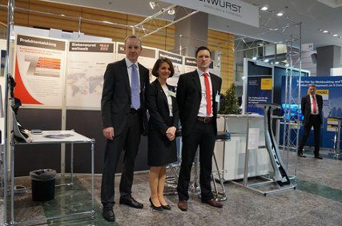Das Siebenwurst-Team in Mannheim: Marc Binder, Katrin Betz und Ralf Drössler (v.l.)